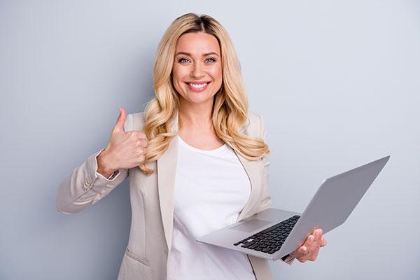 Successful Entrepreneur in a Video Testimonial