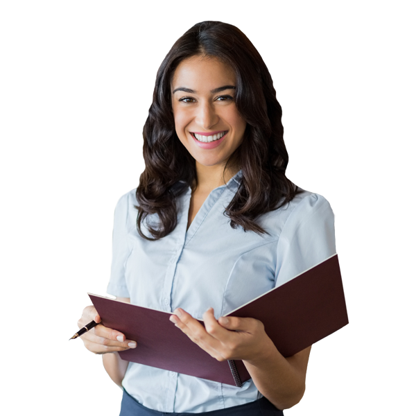 Hotel Receptionist Smiling for Video