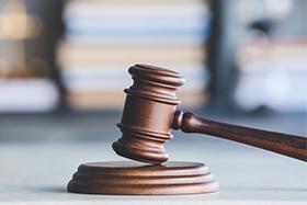 Legal Gavel on Desk