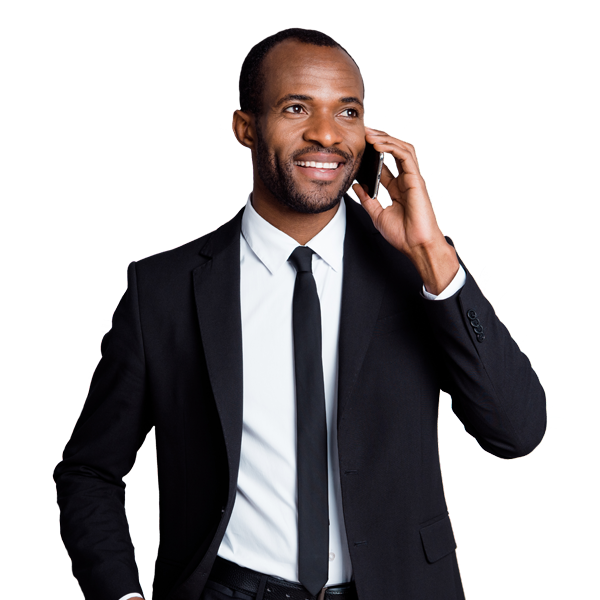 Professional Executive Male on Phone Call