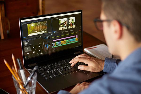 Video Editor Creating Marketing Video